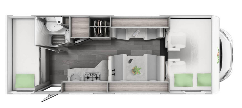 Groß Wohnmobil für bis zu 8-8 Personen in Schweden mieten