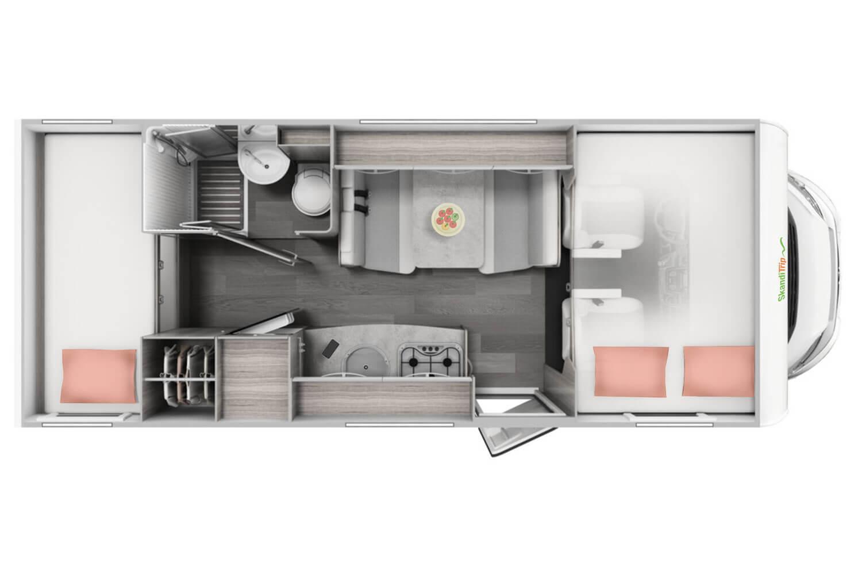 SkandiTrip Familie Wohnmobil Eingang und Speise